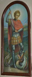 San Giorgio e il drago - affresco di Paolo Cattaneo